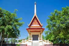 Free Thai Temple In Blue Sky Royalty Free Stock Image - 25721386