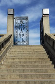 Entrance An Iron Gate To Vigeland Park In Oslo Stock Photo