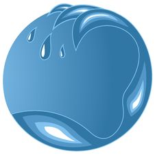 Free Water Wave Emblem Royalty Free Stock Images - 25724909