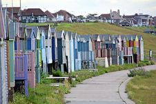 Free Shanty Beach Huts. Royalty Free Stock Photo - 25725385