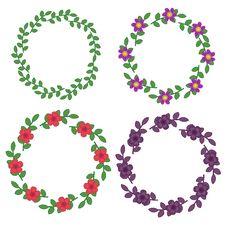 Floral Frames Stock Images