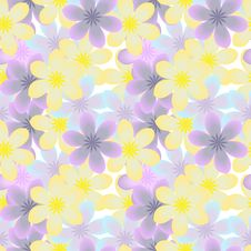 Free Seamless Floral Background Stock Image - 25725571