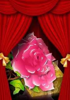 Free Card With Roses And Gift Box Stock Photos - 25727343