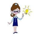 Free Retro Businesswoman Stock Photography - 25732032