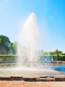 The Fountain In The Lower Park Of Peterhof, Russia Stock Photo