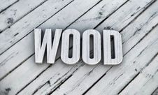 Free Wooden Word Stock Photography - 25732832