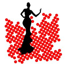 Free Abstraction WOMAN Silhouette Black And Red Glass Stock Photo - 25733180