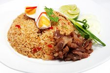 Free Rice With Shrimp Paste Stock Photography - 25734072