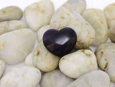 Free Purple Heart Stone Stock Images - 25735484