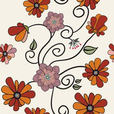 Free Seamless Flower Pattern Stock Photo - 25736650