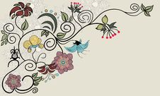Free Vintage Flower. Royalty Free Stock Images - 25736669