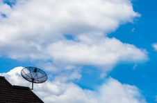Free Satellite Dish And Blue Sky Stock Photo - 25736940