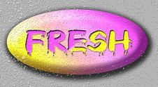 Free Yelly Fresh Button Royalty Free Stock Image - 25739016