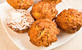 Free Pumpkin Muffins On A Plate Royalty Free Stock Photos - 25747298