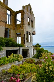 Warden S House On Alcatraz Island Stock Photos