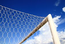 Free Soccer Or Football Goal Conner Royalty Free Stock Photography - 25741307