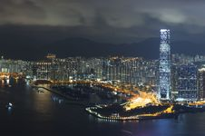 Free Hong Kong City Night Stock Photo - 25743690