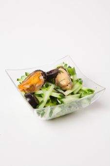 Free Sea Food Salad Stock Photography - 25744962