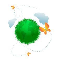 Green Eco Planet Stock Image