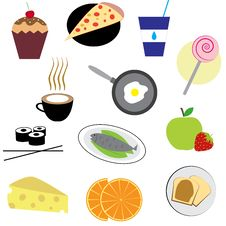 Free Set Of Food Icons Stock Photos - 25745753