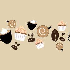 Free Seamless Coffee Patern Stock Photography - 25745762