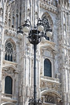 Free Gothic Lamp Post Royalty Free Stock Photos - 25746048