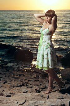 Free Beautiful Girl At The Lake Stock Photo - 25748110