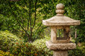 Free Japanese Stone Lantern In A Garden Setting Royalty Free Stock Images - 25753139
