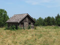 Free Old Log Shack In A Field. Royalty Free Stock Photo - 25756415