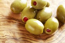 Free Green Olives Royalty Free Stock Photo - 25750055