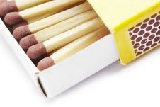 Free Matches In Match Box Royalty Free Stock Photos - 25750438