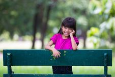 Free Smiling Little Girl At Park Stock Photography - 25750732