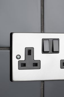 Free Plug Socket In Kitchen Royalty Free Stock Images - 25752379