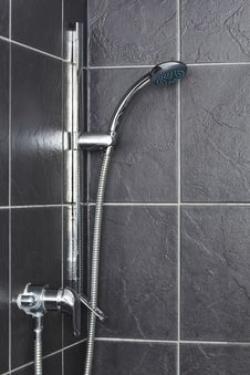Free Shower In Contemporary Bathroom Stock Image - 25752721