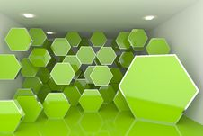 Abstract Interior Rendering Stock Image