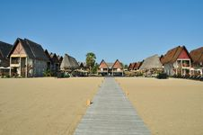 Free Beach Chalets Stock Photography - 25759332