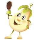 Free Comic Pear With A Mirror Stock Photos - 25769523