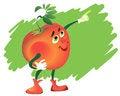 Free Comic Tomato In White Gloves Stock Photo - 25769530