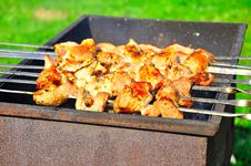 Free Tasty Grill Kebab On A Charcoal Stock Photos - 25766363