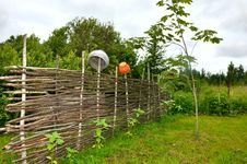 Beautiful Countryside With Old Fence Royalty Free Stock Images