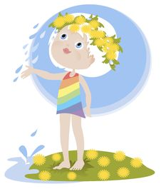 Free Little Girl And The Summer Rain Royalty Free Stock Photos - 25769528