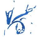 Free Set Of Blue Liquid Splash Stock Photo - 25772440