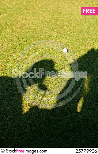 Free Silhouette Of A Golfer Royalty Free Stock Image - 25779936