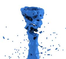 Free Blue Liquid Splash Whirl Royalty Free Stock Photos - 25772438