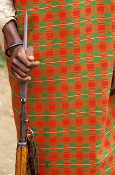 Free Close Up Of A Karamojong Cattle Herders Weapon. Stock Photo - 25774280