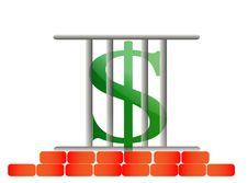 Free Incarcerated Dollar Royalty Free Stock Photos - 25777268