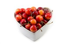 Free Cherries In The Bowl Royalty Free Stock Photo - 25777925