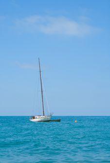 Free Small Boat At Sea. Royalty Free Stock Image - 25778396