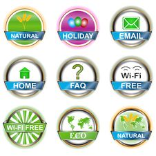 Set Web Of Icons Stock Photos