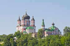 Free Facade Of St. Pantheleimon S Cathedral In Kiev Royalty Free Stock Image - 25778866